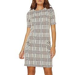 Dorothy Perkins - Blush jacquard check shift dress