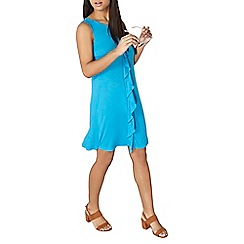 Dorothy Perkins - Turquoise frill front dress