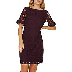 Dorothy Perkins - Berry flute sleeves lace shift dress