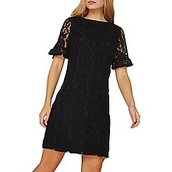 Dorothy Perkins - Black flute sleeves lace shift dress