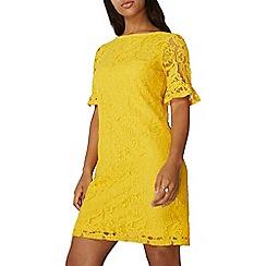 Dorothy Perkins - Yellow lace shift dress