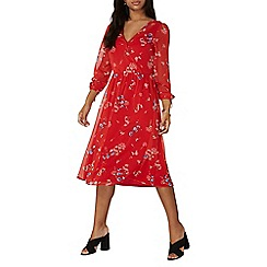 Dorothy Perkins - Red floral fit and flare dress
