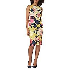 Dorothy Perkins - Lime floral pencil dress