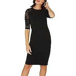 Dorothy Perkins - Black lace sleeves bodycon dress