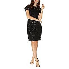 Dorothy Perkins - Black sequin lace pencil dress