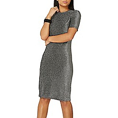 Dorothy Perkins - Silver shimmer bodycon dress