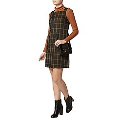 Dorothy Perkins - Yellow check pinafore dress