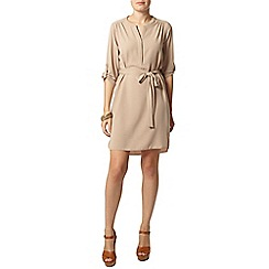 Dorothy Perkins - Stone half placket shirt dress