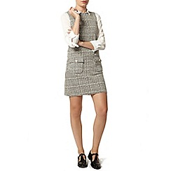 Dorothy Perkins - 60's check mini pinafore dress