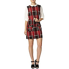 Dorothy Perkins - Red check 2in1 pinny dress