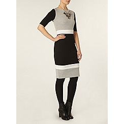 Dorothy Perkins - Grey and black colourblock dress