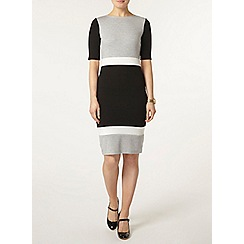 Dorothy Perkins - Grey colourblock tube dress