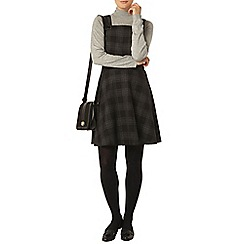Dorothy Perkins - Check pinafore fit and flare dress