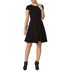 Dorothy Perkins - Black ottoman trim dress