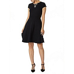 Dorothy Perkins - Navy ottoman pu dress
