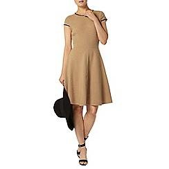 Dorothy Perkins - Camel ottoman pu dress