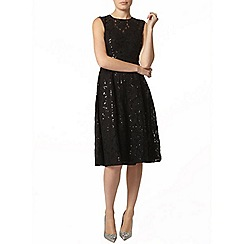 Dorothy Perkins - Black sequin lace midi dress