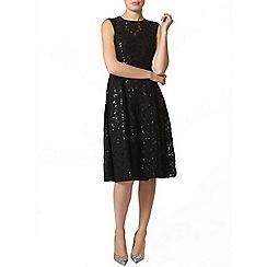 Dorothy Perkins - Black sequin lace midi dress