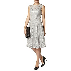 Dorothy Perkins - Grey sequin lace midi dress