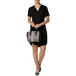 Dorothy Perkins - Black d ring shirt dress
