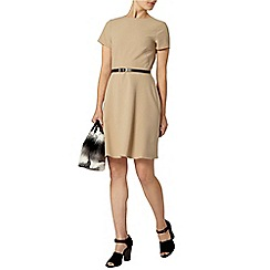 Dorothy Perkins - Camel belted fit and flare dress