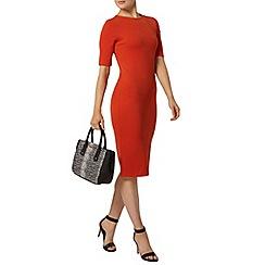 Dorothy Perkins - Orange textured tube dress