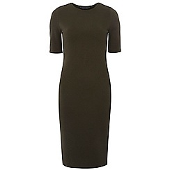 Dorothy Perkins - Tall khaki textured tube dress
