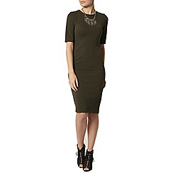 Dorothy Perkins - Khaki textured bodycon dress