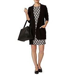 Dorothy Perkins - Stone geometric panel bodycon dress