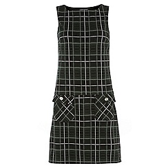 Dorothy Perkins - Tall green check pinny dress