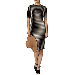 Dorothy Perkins - Camel stripe bodycon dress