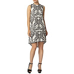 Dorothy Perkins - Print hi lo hem shift dress