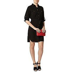 Dorothy Perkins - Black collar shirt dress