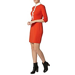 Dorothy Perkins - Orange placket bodycon dress