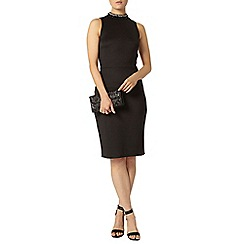 Dorothy Perkins - Black embellished pencil dress