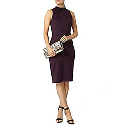 Dorothy Perkins - Purple embellished pencil dress