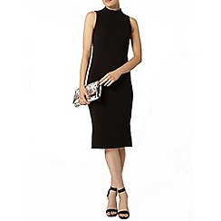 Dorothy Perkins - Black high neck rib bodycon dress