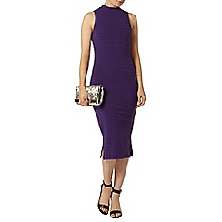 Dorothy Perkins - Purple high neck rib bodycon dress