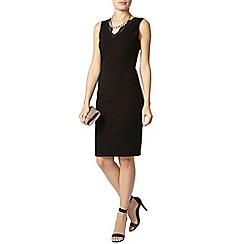 Dorothy Perkins - Black lace neck pencil dress