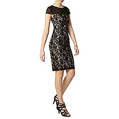 Dorothy Perkins - Tall black lace yoke pencil dress