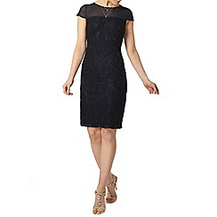 Dorothy Perkins - Navy lace yoke pencil dress
