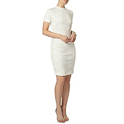 Dorothy Perkins - Ivory cutwork pencil dress