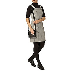 Dorothy Perkins - Grey check pinafore dress