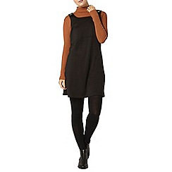 Dorothy Perkins - Black ponte pinafore dress