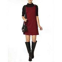 Dorothy Perkins - Wine ponte pinafore dress
