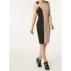 Dorothy Perkins - Camel panel zip pencil dress