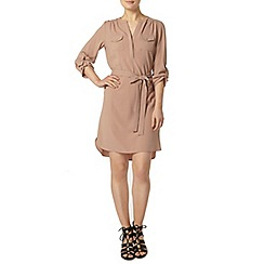 Dorothy Perkins - Camel d ring shirt dress