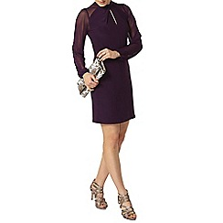 Dorothy Perkins - Damson twist front shift dress