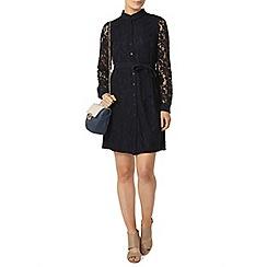 Dorothy Perkins - Navy lace shirt dress