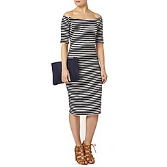 Dorothy Perkins - Stripe bardot bodycon dress